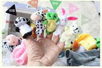Wholesale New style Animal set cartoon Baby Plush Toy Finger Puppets Talking Props for Childs Children