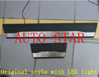 Wholesale Original Car Scuff Plate Welcome pedal with blue led light Honda CITY auto side plate sills