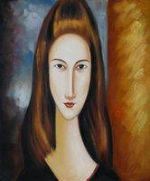 amedeo modigliani paintings - Amedeo Modigliani Portrait of Jeanne Hebuterne hand CANVAS ART OIL PAINTING no Frameless draw