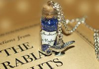 aladdin genie lamps - 12pcs Arabian Nights Necklace Aladdin Mystical Power glass Bottle Necklace with Genie of the Lamp Charm necklace