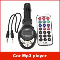 Wholesale Car Mp3 player with Fm Transmitter Modulator Atuio Cables Wireless Remote Control USB SD MMC for all cars with retail packaging