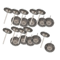 Wholesale FS Hot New Practical quot Dia Gray Steel Wire Polishing Metal Shank Brush Wheel order lt no track