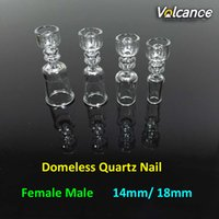 best nail materials - Best Design mm Domeless Quartz Nail Real Quartz Material mm mm Female Male Joint Quartz Domeless Nails For Oil Rigs Glass Bongs