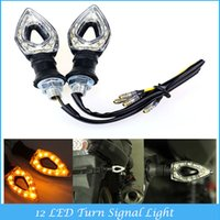 led light motorcycle - Hot Sale x Universal Motorcycle Waterproof LED Turn Signal Light With Amber Turn Signal Lights C4