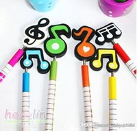 Wholesale New Arrival Cute Music Notation Cartoon Wooden Pencil Novelty School Stationery Pencils For Students Christmas Gift