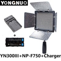 Wholesale Yongnuo YN300 III YN lIl k K CRI95 Camera Photo LED Video Light with mAh NP F750 Battery with Charger set