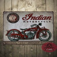 aluminum plaques - Vintage Tin signs Indian motorcycle plaque art wall decor iron Paintings Bar shop Garage decor CM