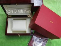 13009 Wood Red New Luxury Original Watch Box Book Card Top Brand Gift Jewelry Bracelet Bangle Display Wood PU Leather Red Storage Case Pillow 3009