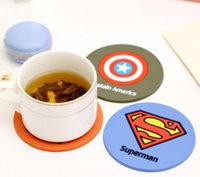ECO Friendly american plastic cups - Colorful Plastic Cartoon American Hero League of Legends Coasters Cup Mat Drink Coasters Cup Mat Cup Pads