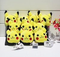 Wholesale 2016 Poke Plush keychain Pikachu Plush Keychain Pendants Stuffed Plush Toy With Ring cm