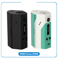 achat en gros de marque tc-2015 Nouvelle Wismec Reuleaux RX200 200W TC Box avec 3 18650 cellules et Joyetech Chip RX200 MOD VS Sigelei 200W Fuchai