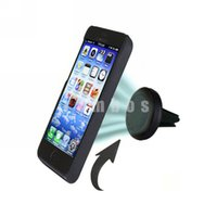 Wholesale Universal Car Smartphone Holder Magnetic Mini Air Vent Outlet Mount Cradle for iPhone plus for Samsung Note Edge
