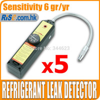 Wholesale 5pcs Freon CFC HFC Halogen Gas Refrigerant Leak Detector R22 R11 R404a HP62