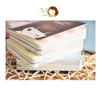 Wholesale Free ship pc Cookie girl notepad mini small pocket notebook diaries palm sized color choice order lt no tracking