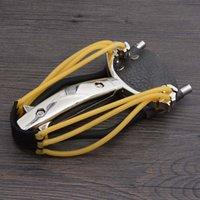 Wholesale New Powerful Slingshot Folding Wrist Brace Support Shot Aluminium Alloy Sling Shot Bow Catapult Outdoor Hunting Slingshot