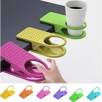 Wholesale New Arrival Office Table Desk Drink Water Cup Coffee Cup Holder Clip Drinklip Hot Selling