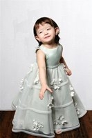 best halloween pictures - Best selling jewel flower girls dresses for weddings floor length special occasion dresses hand made flower
