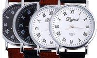 achat en gros de bracelet cuir f-Nouvelle montre-bracelet bracelet en cuir pour homme livraison gratuite F-465