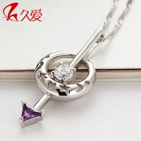 actress love - Long love Silver Necklace Silver Necklace eight female actress Luna arrow heart eight silver jewelry pendant arrow sweater chain