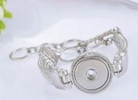 antique platinum bracelet - Hot Sale silver plated platinum Bracelet Bangles Antique Vintage Bracelet High Quality DIY Snap Buttons Jewelry Single Snap TD