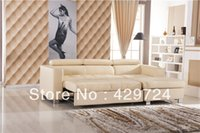 Wholesale Sofa Bed Modern French Design Top Grain Cattle Leather Sofa Set Combination Corner Sofa cum leather Sofa Bed