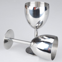 Wholesale 201 stainless steel red wine cup goblet flask wine pot accessory