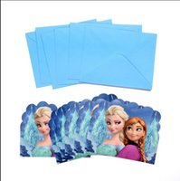 baby shower invitations - New Cute Frozen Elsa Anna Baby Shower Boys Girls Birthday Invitation Card Party Centerpiece Cards Supplies