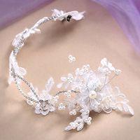 Cheap Hairwear Bridal Wedding Prom Pearl Crystal Princess Crown Tiara Headpiece Fashion Jewelry Crown Veil Rhinestone Headband