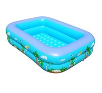 baby pool supplies - 2015 New Arrival Summer Style Baby Swimming Pool XL Inflatable Family Swimming Pool Thickening Infant Baby Basin Package