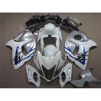 Wholesale ABS Motorbike Fairing Kit For SUZUKI GSXR1300 Hayabusa Main White Gray Color GSXR