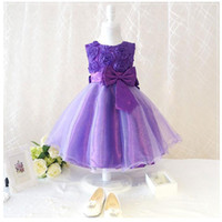 Wholesale Hot retail New style black party girl with blue bow dress princess dress children color