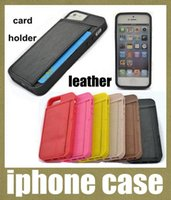 Cheap Hybird TPU apple iphone Cases Ultra thin Leather Cover For Apple Iphone 5 5s Luxury Wallet with Card Holder protective phone case SCA010