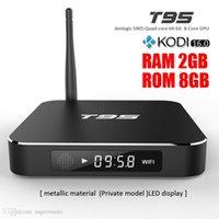 Wholesale Genuine T95 Amlogic S905 Smart Metal TV Box Kodi16 Fully Load Android Quad Core Bit GB GB Bluetooth Media Player