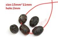 Wholesale Hot Approx mm mm Prayer Black Tibetan Mystical Agate Dzi Eyes Beads DIY necklace Gift w03482