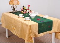 arts tablecloths - Bedesign Home Textile European Rustic table runner TV cabinet tablecloth art bed pad table cover for Wedding decoration