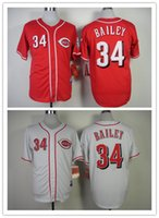 bailey mix - Baseball Jerseys Reds Men BAILEY white Red Jerseys stitched Top quality Mix Order Free Fast Shipping