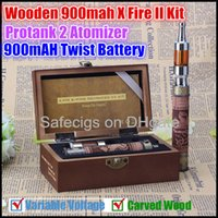 carving - E Fire Kits X Fire II Wooden Kit mAH Variable Voltage V V E Fire Wooden Battery Hand Carved Wood E Fire II With Awesome Protank