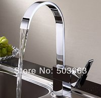 Wholesale Great Price Fashion Kitchen Sink Swivel Tap Chrome Brass Water Basin Spout Vessel MF Mixer Tap Faucet Mixer Tap Faucet