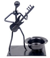 ashtray guitar - New arrivel black iron ashtray electric guitar music people ashtray creative gifts home decor