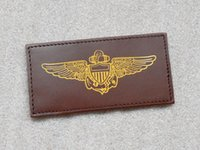 aviation names - US Navy Aviation NAVY AVIATION Pilots leather badge badge name card