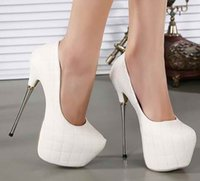 ladies pumps - white Black wedding shoes cm super High Heels party shoes Pumps Stilettos heels Platform Peep Toe pumps Ladies dress Shoes women