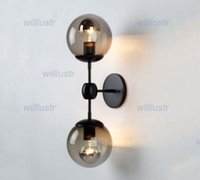 Clear Glass ball wall lamp - modo wall sconce modern glass ball wall lamp modo wall light modern lighting cafe lamp living room dinning room lamp