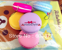 Wholesale Colors New cm Jumbo Candy Colors Macaroon Squishy Charm With Nice Package