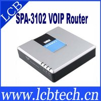 Wholesale Brand new SPA3102 voip Phone Adapter Freeshipping