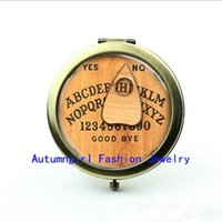 Wholesale New Arrival You Choose the Letter Pocket Mirror Ouija Board Glass Picture Jewelry Pocket Cosmetic Mirror