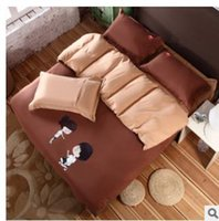 bedding process - Pyrograph process China home textile home textiles bedding the fitted model Pure color double color suite