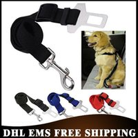 army seat - Free DHL Army Green Adjustable Dog Cat Pet Car Safety Seat Belt Red Blue Black