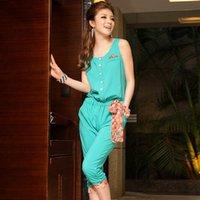 Wholesale 2014 Summer new Korean Suihua seven hit color pants slim slim large size women Chiffon pants