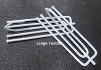 Wholesale high quality white metal window curtain hook for home decorative window curtains accessory