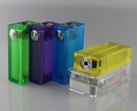 ABS BOX MOD colorido Acrílico duplas 18.650 mods mecânicos bateria vs madeira mod smy de metal IPV Deus 180 istick MVP sigelei tesla ecig Vape DHL